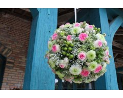 decoration boule florale