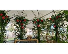 decoration exterieure tonnelle fleurs exotique