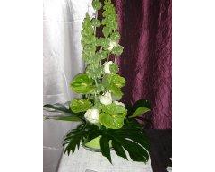 decoration table composition buffet fleurs vert