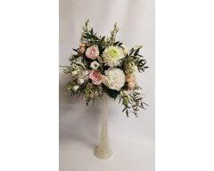 decoration table vase cannele couleur blanc