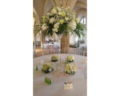 decoration table vase martini petites compositions ronde