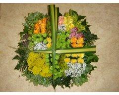 composition florale deuil carre