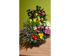 composition florale deuil coupe de plantes 1