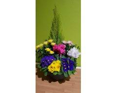 composition florale deuil coupe de plantes 3
