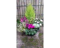 composition florale deuil coupe de plantes 5