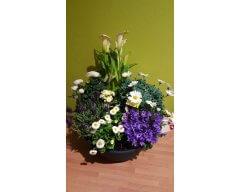 composition florale deuil coupe de plantes 6